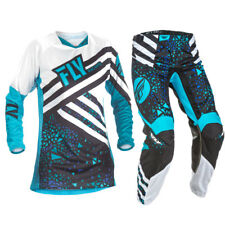 Fly Racing 2018 Youth Girls Kinetic Jersey Race Pants Package - Blue/Black