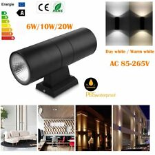 Modern Outdoor 20W LED Wall Light Up Down Cylinder COB Dual Head Wall Lamp New