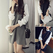 New Stylish Womens Long Sleeve Evening Party Casual Loose A Line Shirt Dress