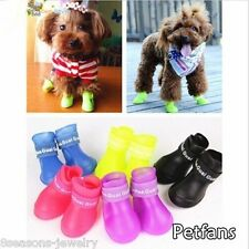 4X Dog Candy Colors Boots Waterproof Rubber Pet Rain Shoes Booties S/M/L Gift GW