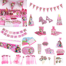 Baby Kids Unicorn Theme Party Birthday Decor Banner Gift Candy Boxes Tableware