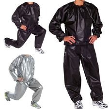 L-5XL Sauna Suit Sweat Weight Loss Exercise Fitness Gym Slimming Training UK