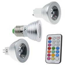 MR16 GU10 E27 4W RGB LED 16 Color Changing Light Bulb Change Lamp with IR Remote