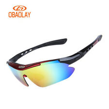 Polarized Sports Cycling  Sunglasses 100% UV400 Protect for Men Women 5 Lenses