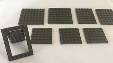 LEGO LEGOS Dark Gray Bases Slopes Hinge Door-Thin-Thick Bricks Platform LOT