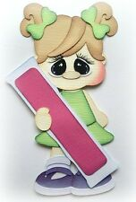 GIRL HOLDING ICE POP SUMMER PREMADE PAPER PIECING BY MY TEAR BEARS KIRA