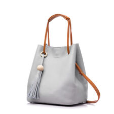 REALER new drawstring bucket women genuine leather handbag with tassel tote bags