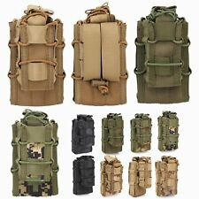 Tactical Military Molle Single Open Top Double Decker Magazine Mag Pouch Bag #IR