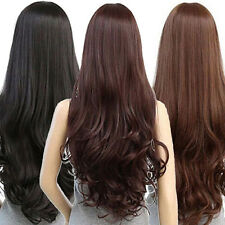 Fashion Women Cosplay Wig Long Curly Wavy Black Heat Resistant Hair Full Wigs