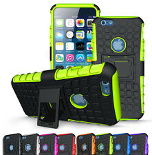 Rugged Shockproof Hybrid Armor Hard Case Stand Cover For iPhone 5 SE 6 6S Plus