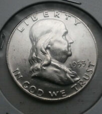 1953-D Franklin BU uncirculated Half  This exact coin- FREE shipping