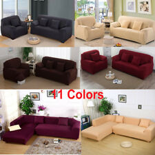 11 Colors 1 2 3 4 Seats Pure Color Stretch Elastic Slipcover Sofa Cover Couch