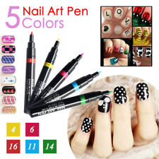 16 Colors Nail Polish Pen Women 3D DIY Manicure Art Tool Paint Drawing Wedding