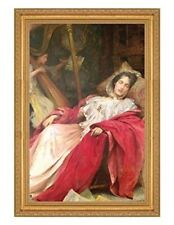 Victorian Trading Co Dreams Woman Sleeping with Angel Unframed Print
