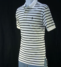 NWT Ralph Lauren Men's Stripe Mesh Polo Shirt / Short Sleeve /Size  S