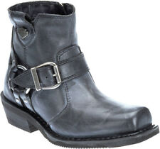 """Harley-Davidson Womens Newhall 5.5"""" Motorcycle Riding Black Leather Boots D87139"""