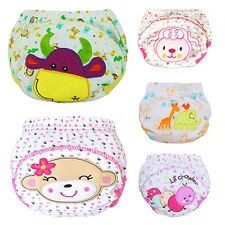 HK- Cute Baby Training Pants Reusable Cloth Washable Infant Nappies Diaper Showy