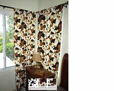 """Western Curtains Cow Print OR Pony Print (2 panels) 84"""" Long"""