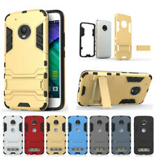 Shockproof Rugged Hard Armor Hybrid Stand Case Cover For Motorola Moto Phones