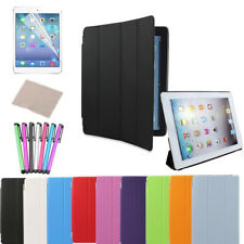Magnetic Leather Smart Case Cover Stand for Apple iPad 2 3 4 +Back Cover,Pen