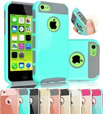 Slim Shockproof Rugged Hybrid Rubber Hard Cover Case Skin for Apple iPhone 5C