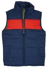 Mens Full Zip Gilet Bodywarmer Navy And Red