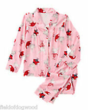 NWT GYMBOREE OLIVIA OLIVIA FLEECE 2-PC PAJAMAS 7 8 10 12 Button Down Girl