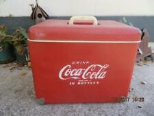 VINTAGE 1950's COCA COLA Cooler LEATHERETTE Coke DRINK IN BOTTLES, ROYAL MIECO