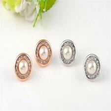 Fashion Women Girls Crystal Diamante Czech Stone Ear Stud Earrings Jewelry