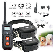 Waterproof Electric Shock Dog Training Collar Rechargeable Bark Control Remote