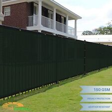 Green 8'x50' FT Fence Windscreen Privacy Screen Shade Cover Mesh Fabric Tarp