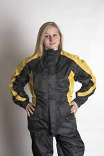 RoadDog 2 Piece Stay-Dry Motorcycle Rain Suit Waterproof Suit Adult Yellow