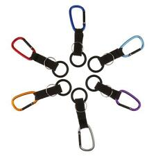 Durable Carabiner Clip Hook Rubber O-ring Water Bottle Holder Hiking Outdoor