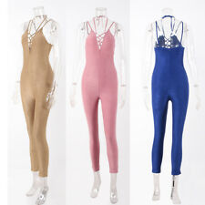 Women's New Sling Jumpsuit Sexy Rompers Trousers Slim Bandage 1Pcs