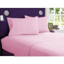 1000 TC 100%Egyptian Cotton AU-Home Bedding Items Select  All Size pink- Solid