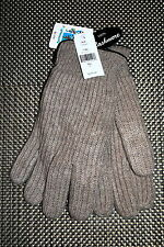 PORTOLANO MENS 100% CASHMERE GLOVES BROWN SIZE MEDIUM RP $125.00 NWT LAST ONE!