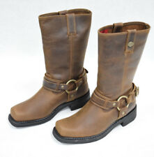 """Harley-Davidson NIB Men's Brown Leather """"Westmore"""" Motorcycle Boots D93316"""
