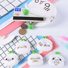Cute Emoji Ladies Kids Silicone Jelly Coin Purses Key Bag Wallet Jewelry Gift EF