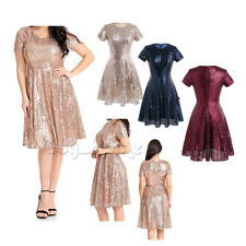 Women Formal Wedding Bridesmaid Evening Party Short Prom Sequins Cocktail Dress