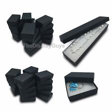 Matte Black Cotton Filled Gift Boxes Jewelry Cardboard Box Lots of 12~25~50~100