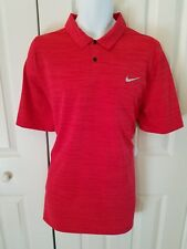 Nike Velocity Max Hypercool Golf TW Tiger Woods Collection Golf Polo-Red
