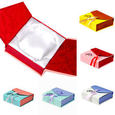 Square Bowknot Package Bracelet Bangle Jewelry Display Box Gift Present Case GT