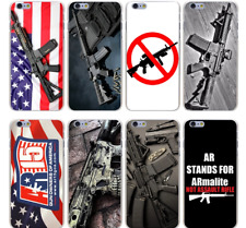 New AR-15 Rifles AR 15 Gun Weapon Soldier Flag Hard Case Cover For iPhone Huawie