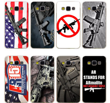 New AR-15 Rifles AR 15 Gun Weapon Soldier Flag Phone Hard Case Cover For Samsung