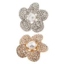 Women Elegant Crystal Rhinestone Flower Wedding Bridal Bouquet Brooch Pin