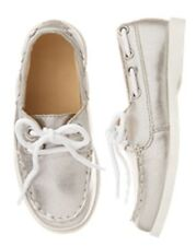 NWT Gymboree Shore To love Silver Boat Shoes 4,5,6,7,8,9,10,11,12,13,1,2,4 Girl