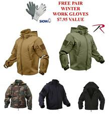 Rothco Special Ops Waterproof Tactical Soft Shell Jacket, SM-2XL. Free Gloves!!
