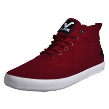 Voi Jeans Fiery Miracle Mens Hi Top Classic Plimsoll Trainers Deep Burgundy