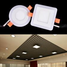 3w led ceiling recessed panel Light painel lamp decoration downlight Blue+White~