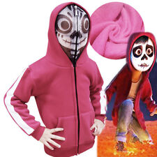 CoCo Miguel Riveras Cosplay Costume Red Mask Thick Hoody Fleece Jacket Kid Coat